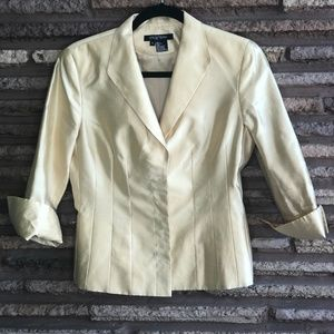 Etcetera Gold Metallic Silk Formal Blouse